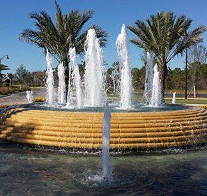 Esplanade Golf and Country Club Fountain Close Up | Precast Keystone - Naples, Florida