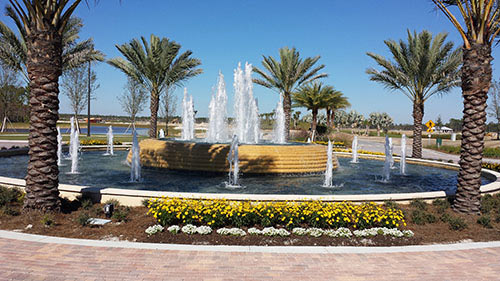 Esplanade Golf and Country Club Fountain | Precast Keystone - Naples, Florida
