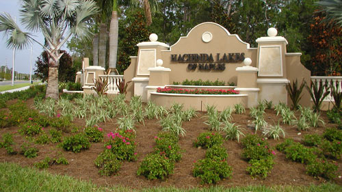 Hacienda Lakes of Naples Sign | Precast Keystone - Naples, Florida