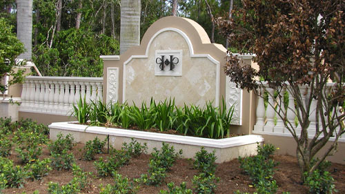 Hacienda Lakes of Naples Entry | Precast Keystone - Naples, Florida