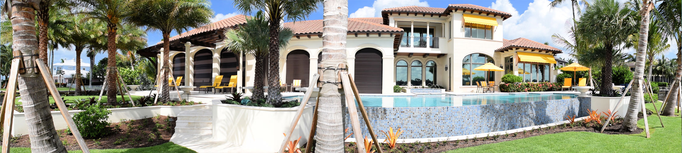 Home With Pool and Yellow Accents | Precast Keystone - Naples, Florida