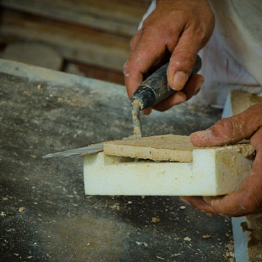 Removing Stone from Cast | Precast Keystone - Naples, Florida