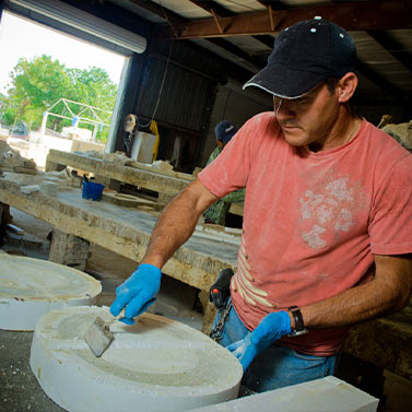 Smoothing the Mold | Precast Keystone - Naples, Florida