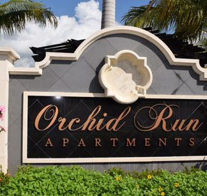 Orchid Run Apartments Sign | Precast Keystone - Naples, Florida