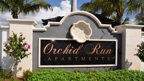 Orchid Run Apartments Sign | Precast Keystone - Naples, Florida